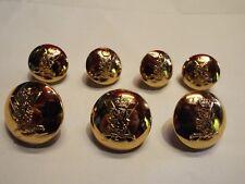 Gilt Royal Regiment of Scotland Doublet Jacket RRS Buttons Choose Size/Quantity
