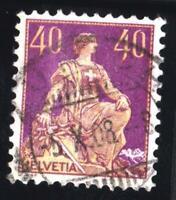 SUISSE- VARIETY  N°:123 a -TYPE II  USED-  CV : 100 €