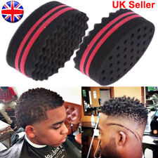 Double Sides Oval Magic Twist Hair Sponge Afro Wave Hair Curl Sponge Brush UK