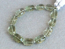AAA Natural Green Amethyst Faceted Nugget Semi Precious Gemstone Beads (98005)