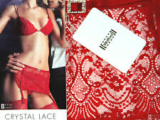 BNWT WOLFORD CRYSTAL LACE STOCKING BELT SIZE S