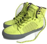 Supra Muska 001 SKYTOP Acid Yellow skate shoes Women's Size 8 Purple High Top