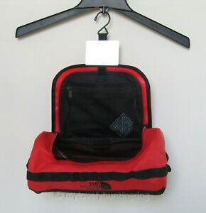 NWT The North Face Base Camp Travel Canister Case -L red Black Bag