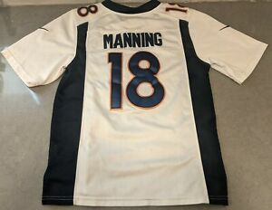 Peyton Manning #18 Denver Broncos NFL Football White Youth Jersey Size Small
