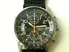 NOS SEIKO CHRONOGRAPH MILITARY Cal 7T94 JAPAN WATCH, MEN´S, DATE, WR 100M, BOX