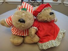 Free Shipping! Mr. and Mrs. Santa Bears by Hallmark - Stuffed -1985