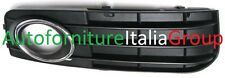 GRIGLIA PARAURTI ANTERIORE DX C/F FENDI NERA C/CROMATA AUDI A4 07>11 2007>2011