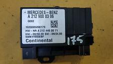 MERCEDES C CLASS W204 C250 CDI 2007-2011 FUEL PUMP CONTROL MODULE A2129000306