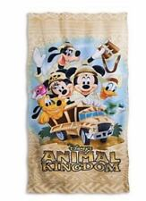 Disney Parks Beach Towel Animal Kingdom Safari Mickey Minnie Pluto Donald Goofy