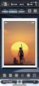 Topps Star Wars Digital Card Trader White TFA Moments Rey & BB-8 Insert Award