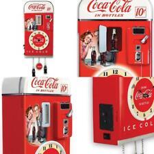 Wall Decor: COCA-COLA Time Refreshment Vending Machine Wall Clock Retro Vintage
