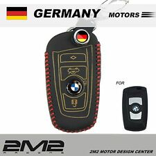 Leather Key fob Holder Case Chain Cover FIT For BMW F10 F11 F06 F12 F13 F01 F02