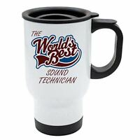 The Worlds Best Sound Technician Thermal Eco Travel Mug - White Stainless Steel