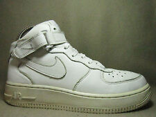 Nike Air Force 1 Mid GS JUNIOR TUTTI IN PELLE BIANCO Tg UK 5/EU 38