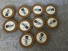 Wynn Casino Las Vegas NV $2 Casino Chips x 10