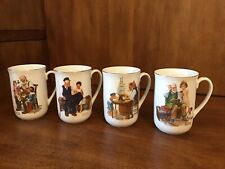 Vintage 1982 Norman Rockwell Classic Mug Series Decorative Coffee Cup Set