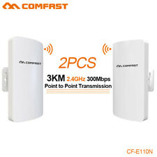 2Pcs Comfast 300Mbps Waterproof Outdoor Cpe 2.4G Wireless Access Point WiFi