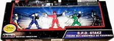 """Power Rangers SPD 3"""" Stakz Shadow Omega Red Blue Green Set New Factory Seal 2004"""