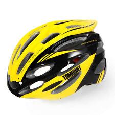 Bicycle Cycling Road Bike Helmet Mountain Yellow Visor Adjustable Black TOMOUNT