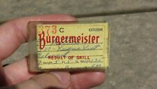 1956 California Angling Fishing License Pin Advertising Burgermeister Beer