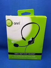 Onn Headset Xbox 360 Wired Headphone ONA13AV204 Chat Gaming Audio Microphone NOB
