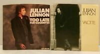 """Julian Lennon Too Late For Goodbyes / Valotte 45 Vinyl Record 7"""" Singles Picture"""