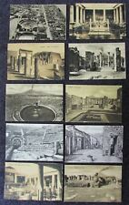 GROUP OF EARLY 2OTH CENTURY POMPEI POST CARDS ROMAN RUINS MINT