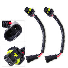 2x HB4 9006 Headlight FogLight Extension Wiring Harness Socket Plug Wire Adapter