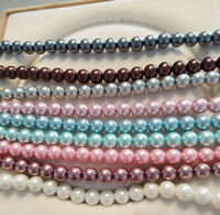 Wholesale 8mm 10mm South Sea Shell Pearl Round Loose Beads 15'' Strand AAA