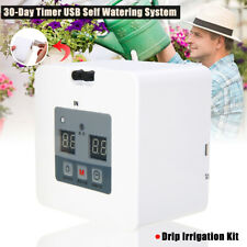 DIY Micro Automatic Drip Irrigation Kit Self Watering System 30 Day Timer USB