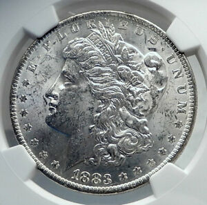 1883 UNITED STATES of America SILVER Morgan US Dollar Coin EAGLE NGC MS i81179