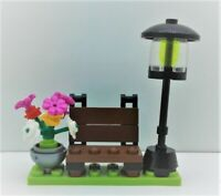 Lego City Town Village Street PARK Outdoor Lights Flowers Garden Bench CUSTOM