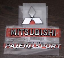 Rear Badge Emblem Mitsubishi Pajero Sport 2010-2016 nameplate Triple Diamond
