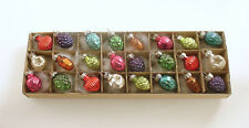 Glass Christmas Ornaments Feather Tree Miniatures