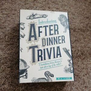 After Dinner Trivia Card Game - New & Sealed - Age 14+  2+ Players