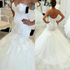 Hot New white / ivory mermaid wedding dress custom size 2-4--18-20-22 +