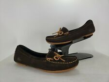 57844348c3d9 New Women s Lacoste Brown Suede Loafer Moccasin 8 Casual Slip On Flat