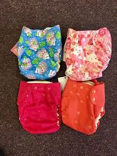 4 Blueberry Simplex Organic One Size Cloth Diapers/Stay Dry Soaker Kittens NEW