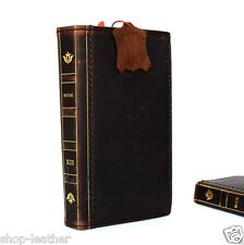 genuine leather Case for Samsung Galaxy Note Edge book wallet cards brown thin s