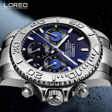 LOREO Diver Series 200M Waterproof Seagull Automatic Stainless Steel Men's Watch