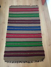Bulgarian Antique 100% Wool Handcrafted Rug- 57 years old (1960s)