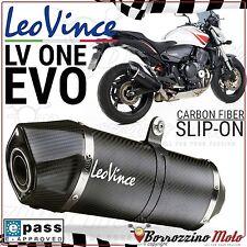 POT D'ECHAPPEMENT LEOVINCE LV ONE EVO CARBONE 8401 HONDA CB 600 F HORNET 2011 11