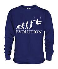 GYMNASTICS RINGS EVOLUTION OF MAN UNISEX SWEATER MENS WOMENS LADIES CLOTHING