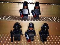 5 Lego Star Wars Figuren First Order Crew Member mit Waffen Minifig  W35