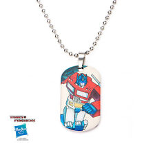 OFFICIAL TRANSFORMERS OPTIMUS PRIME DOG TAG PENDANT WITH CHAIN NECKLACE
