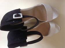 """New Look Faux Suede Very High Heel (greater than 4.5"""") Wedge Women's Shoes"""