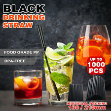 Black Drinking Straw Party Cocktail Plastic Disposable Straws Individual package