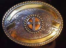 Crumrine CROSS  Oval Belt Buckle ROPE TRIM M & F Western  3806645