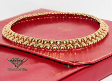 Cartier 18k Yellow Gold Heart Shaped Collar Necklace w/Box