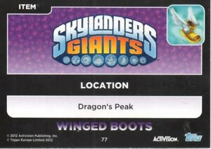 Skylander Giants Trading Cards - Magic Items and Locations 66 - 77